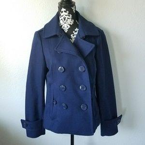 H&M navy blue peacoat